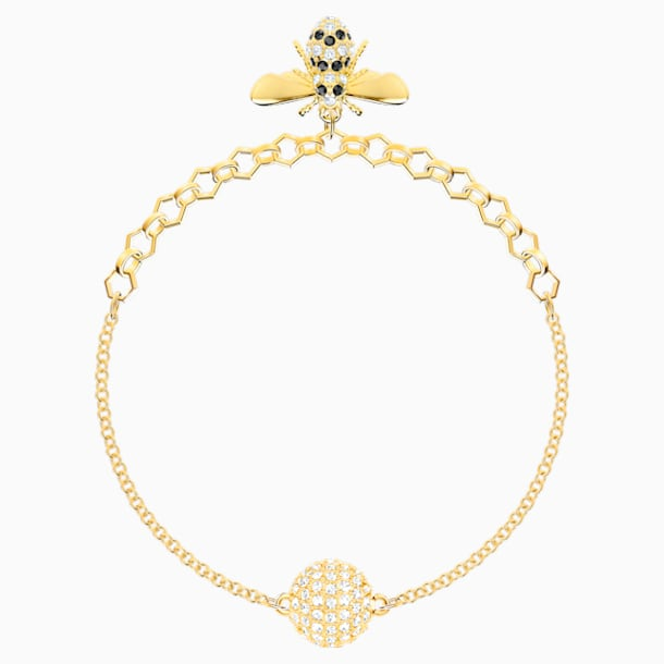 Swarovski Remix Collection Bee Strand, Black, Gold-tone plated - Swarovski, 5412322