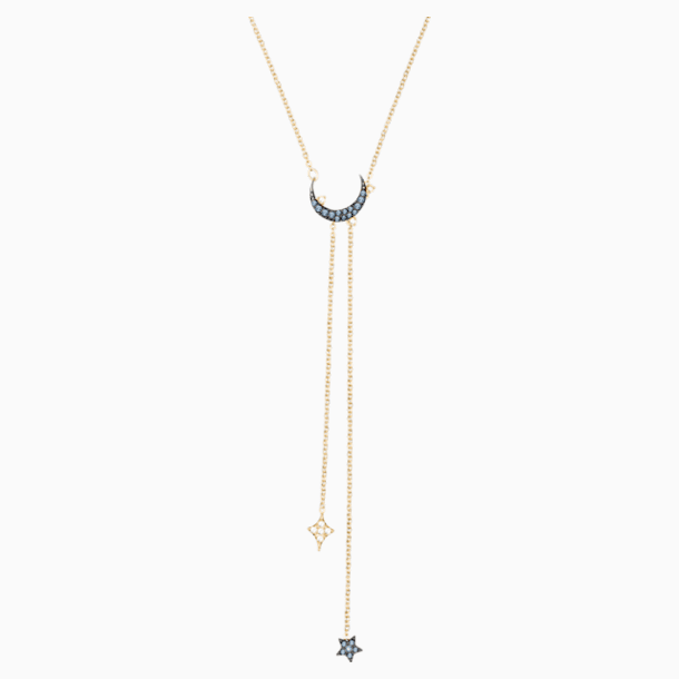 Swarovski Symbolic Moon Y Necklace, Blue, Mixed metal finish - Swarovski, 5412630