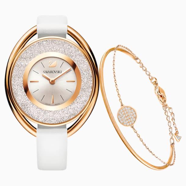 Crystalline Oval Set, White, Rose gold tone - Swarovski, 5414705