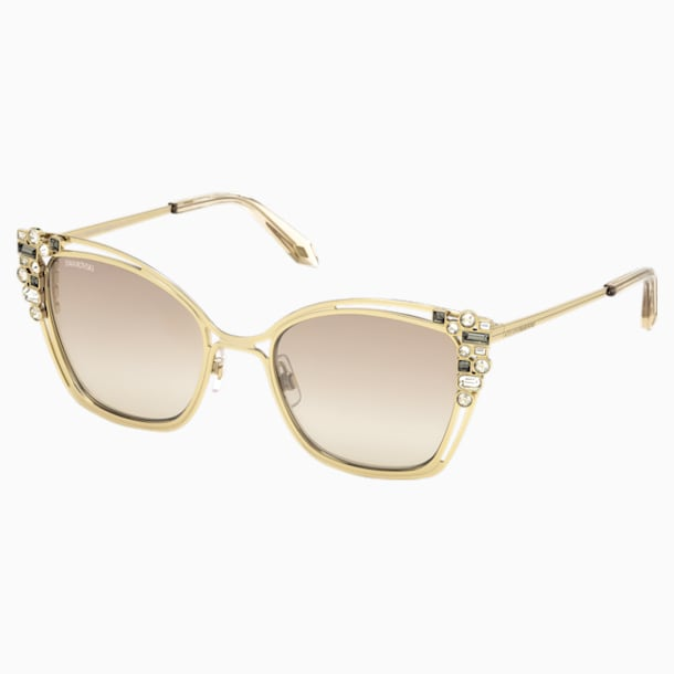 Nile Cat Eye Sunglasses, SK163-P 32G, Light Gold - Swarovski, 5415541