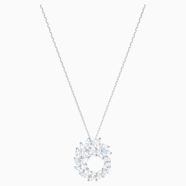 Louison 链坠, 白色, 镀铑 - Swarovski, 5415989
