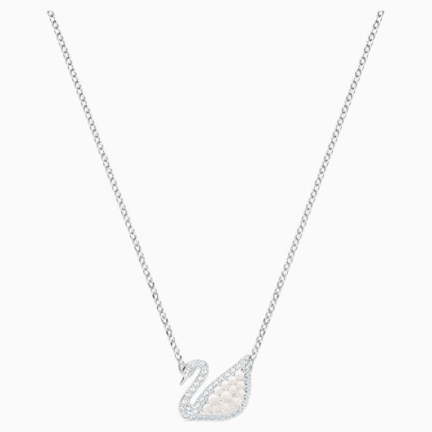 Swarovski Iconic Swan Necklace, White, Rhodium plated - Swarovski, 5416605