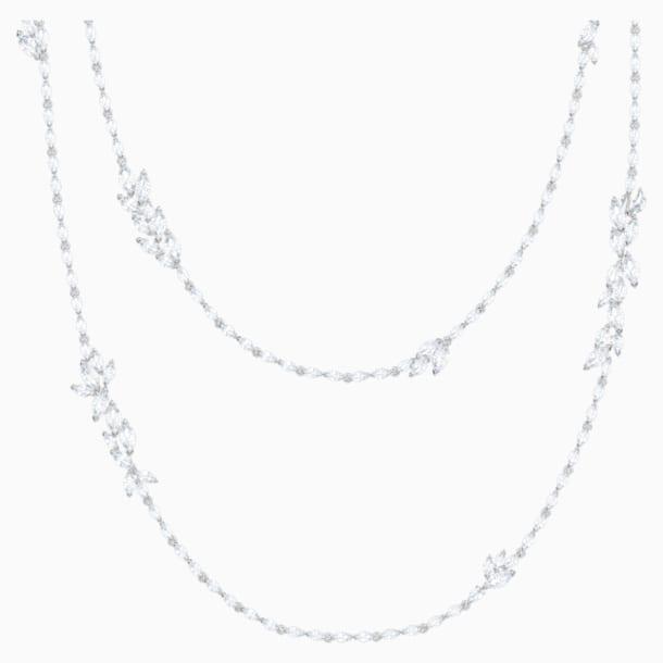 Collar Louison, blanco, Baño de Rodio - Swarovski, 5418111