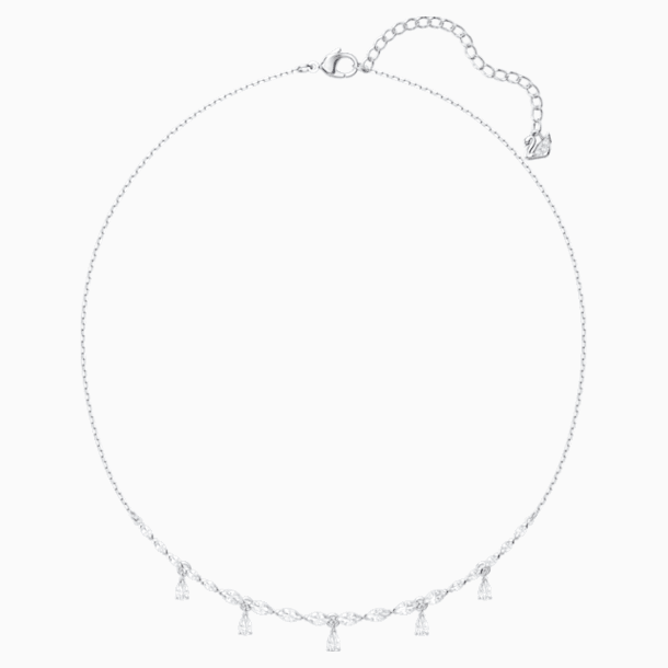 Louison 項鏈, 白色, 鍍白金色 - Swarovski, 5419242