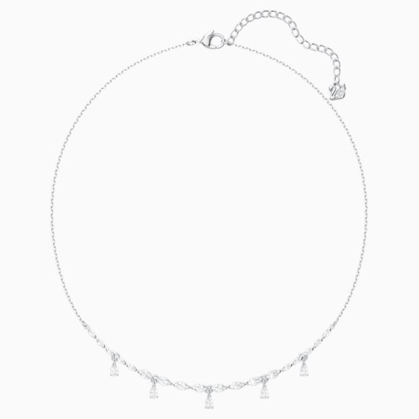 Louison 项链, 白色, 镀铑 - Swarovski, 5419242