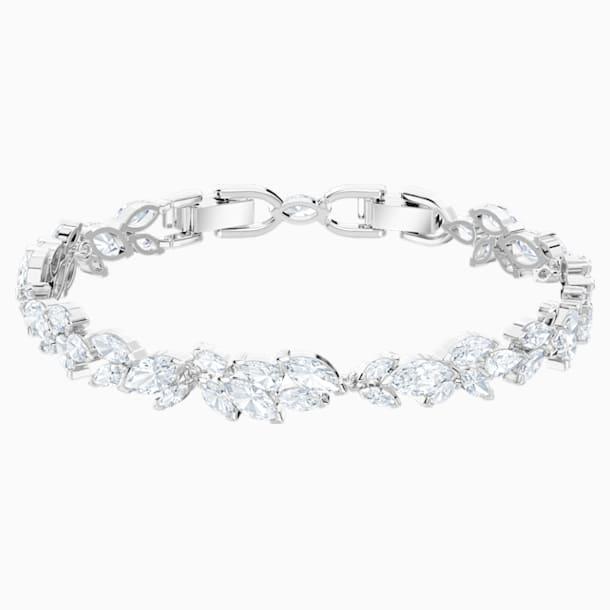 Louison Bracelet, White, Rhodium plated - Swarovski, 5419244