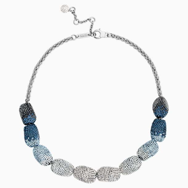 Moselle Necklace, Blue, Paladium plated - Swarovski, 5420497