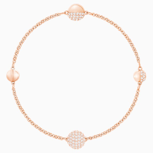 Swarovski Remix Collection Round Strand, White, Rose-gold tone plated - Swarovski, 5421445