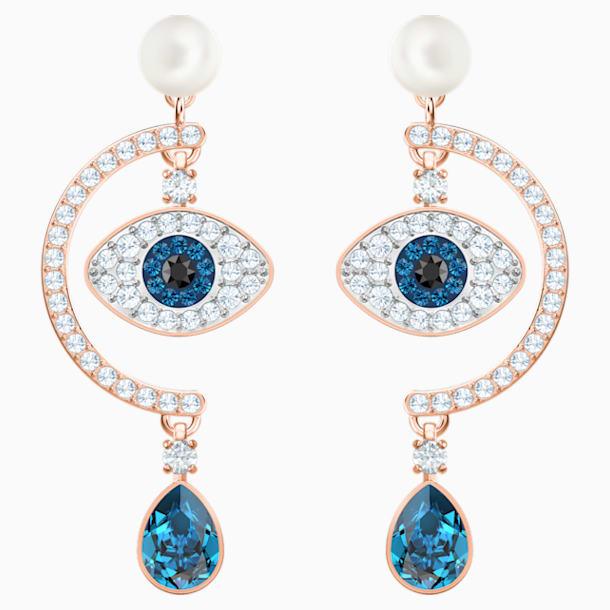 Vpichovací náušnice se symbolem modrého oka, Vícebarevné, Pozlacené růžovým zlatem - Swarovski, 5425860