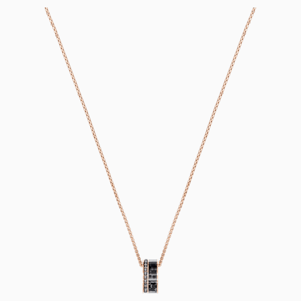 Alto Pendant, Gray, Rose-gold tone plated - Swarovski, 5427127