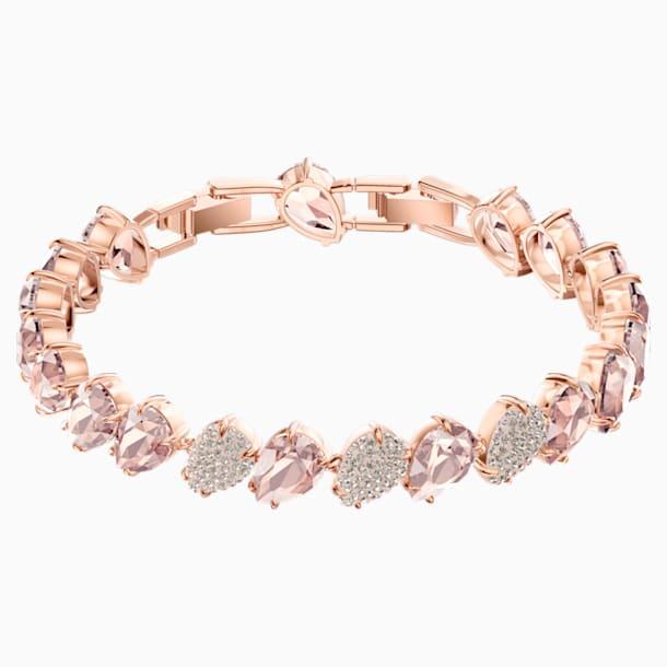 Bracelet Mix, rose, Métal doré rose - Swarovski, 5427973