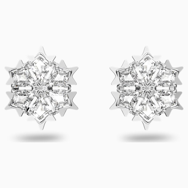 Pendientes Magic, blanco, baño de rodio - Swarovski, 5428430