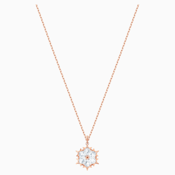 Magic Pendant, White, Rose-gold tone plated - Swarovski, 5428431