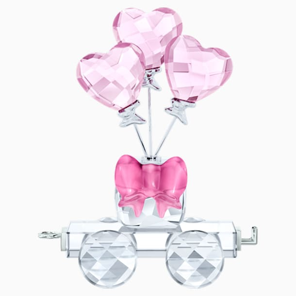 Vagónek se srdcovými balónky - Swarovski, 5428615