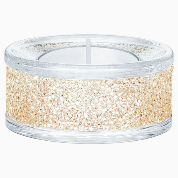 Shimmer Tea Light Holders, Gold Tone - Swarovski, 5428724