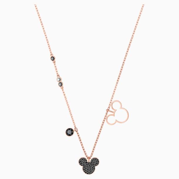 Mickey & Minnie Pendant, Multi-colored, Rose-gold tone plated - Swarovski, 5429081