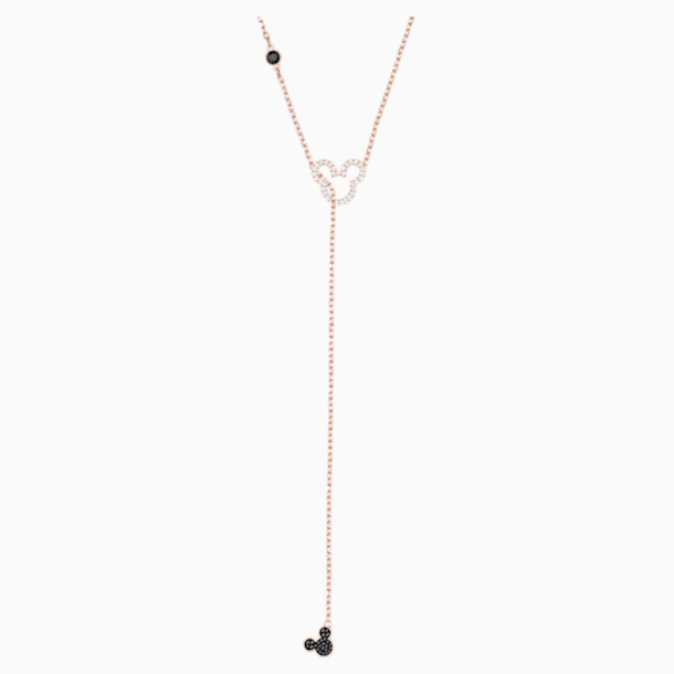 米奇与米妮 Y形項鏈, 多色設計, 鍍玫瑰金色調 - Swarovski, 5429084