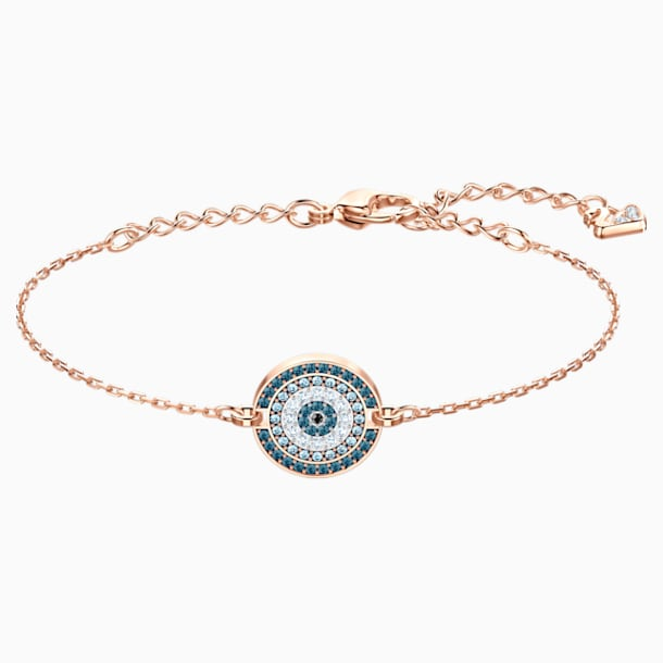 Luckily Bracelet, Multi-coloured, Rose-gold tone plated - Swarovski, 5429128