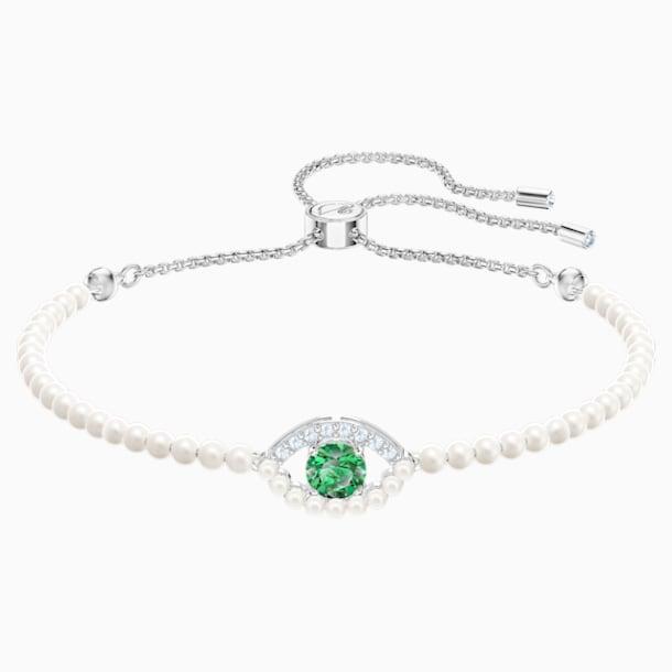 Bracelet Luckily, vert, Métal rhodié - Swarovski, 5429733