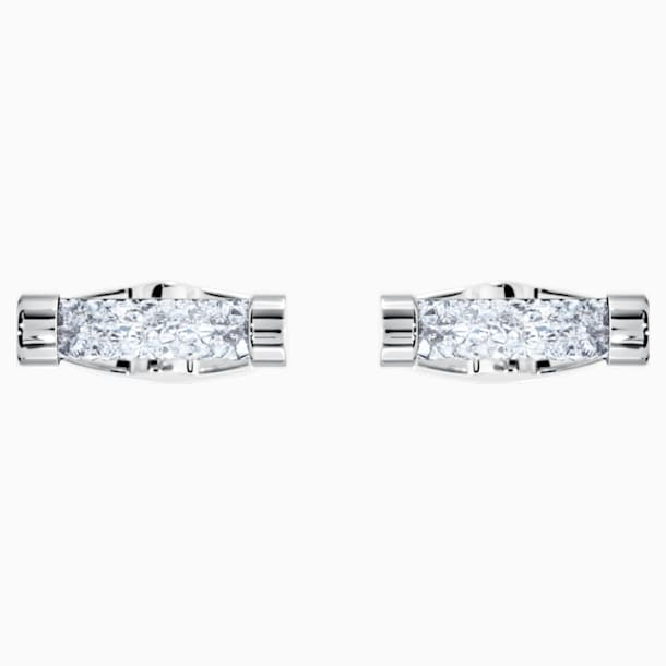 Crystaldust Cufflinks, White, Stainless steel - Swarovski, 5429896