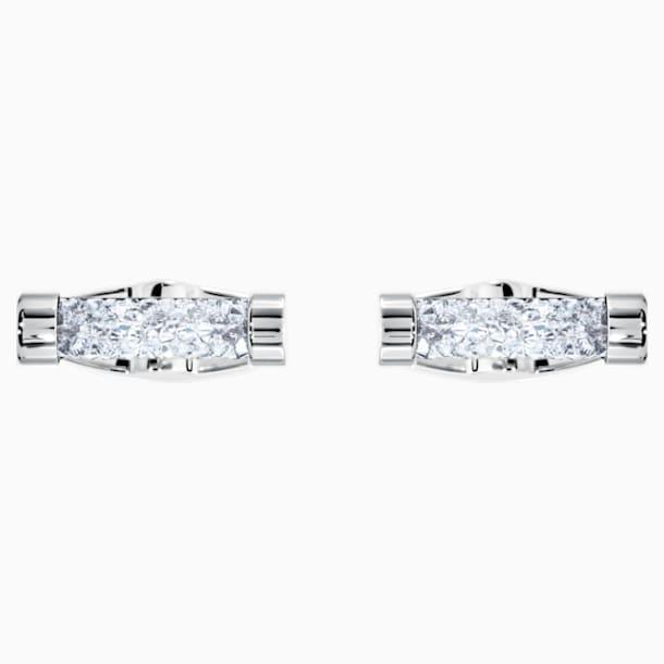 Crystaldust mandzsettagombok, fehér, nemesacél - Swarovski, 5429896