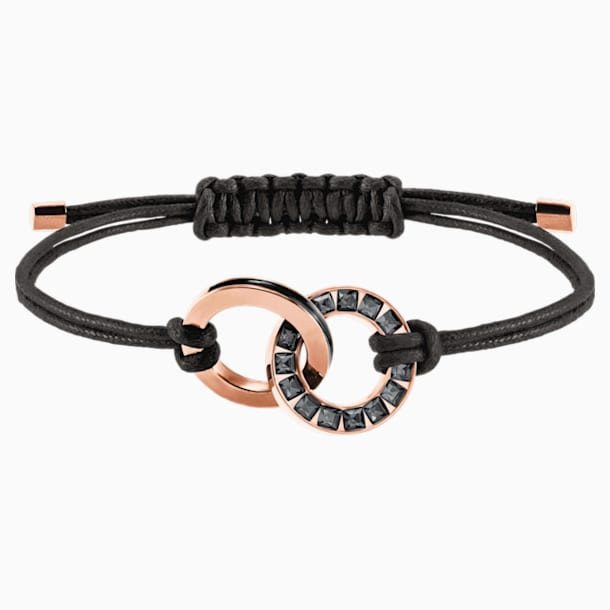 Alto Bracelet, Grey, Rose-gold tone plated - Swarovski, 5429899