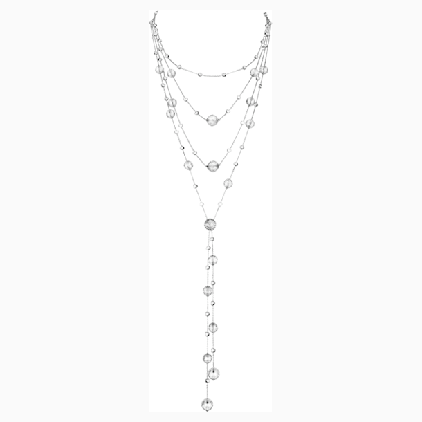Concentric Necklace, Swarovski Crystal & Swarovski Created Diamonds, 18K White Gold - Swarovski, 5430505