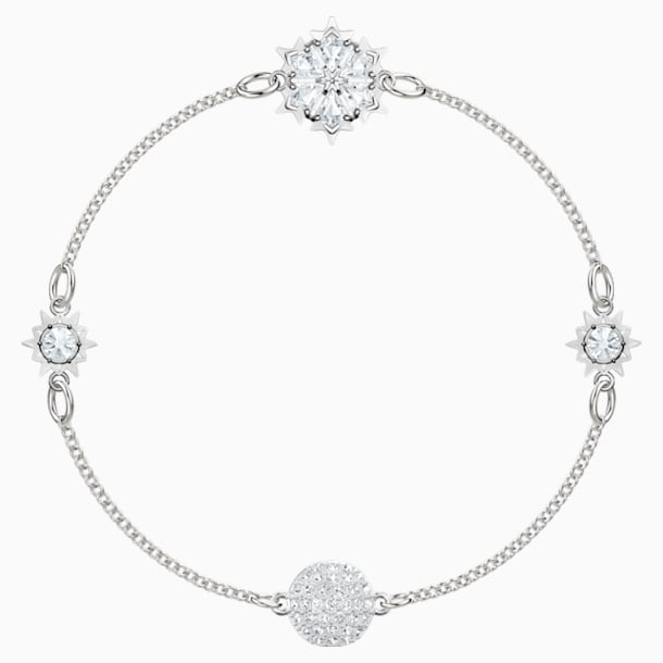 Swarovski Remix Collection Snowflake Strand, White, Rhodium plated - Swarovski, 5432735