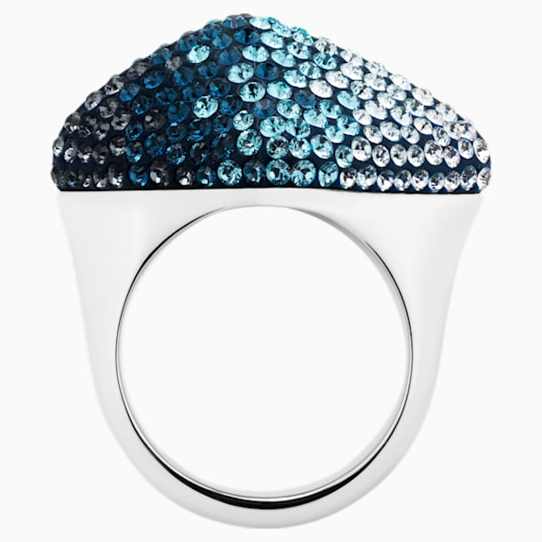 Moselle Ring, Blue, Paladium plated - Swarovski, 5433137