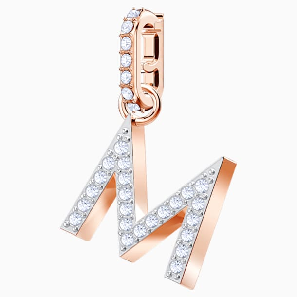 Swarovski Remix Collection Charm M, White, Rose-gold tone plated - Swarovski, 5434395
