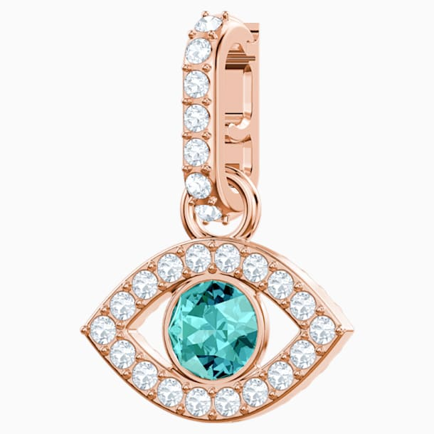 Swarovski Remix Collection Evil Eye Charm, Multi-colored, Rose-gold tone plated - Swarovski, 5434401