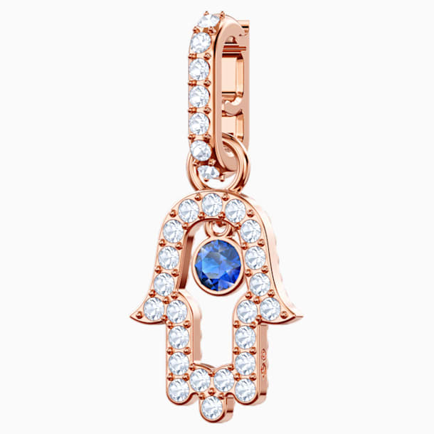 Swarovski Remix Collection Hamsa Hand Charm, Multi-colored, Rose-gold tone plated - Swarovski, 5434402