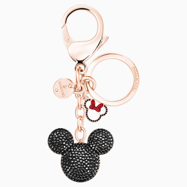 Mickey 手袋墜飾, 黑色, 混搭多種鍍層 - Swarovski, 5435473