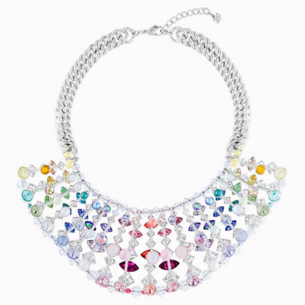 Neon Necklace, Multi-coloured, Rhodium plated - Swarovski, 5435557