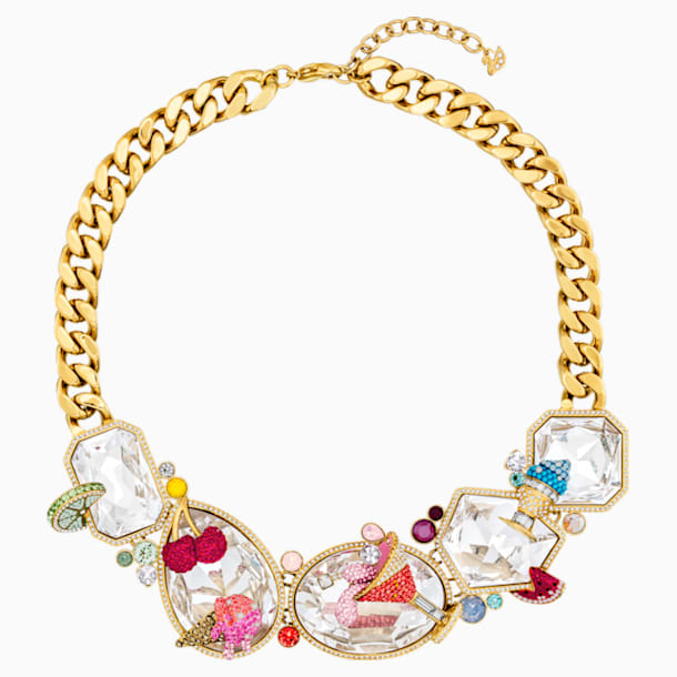 Optimum Necklace, Multi-colored, Gold-tone plated - Swarovski, 5435563