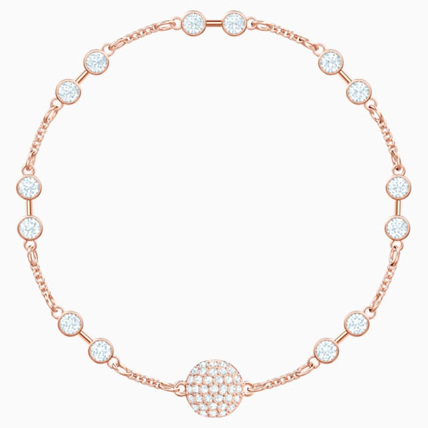 Swarovski Remix Collection Carrier, White, Rose-gold tone plated - Swarovski, 5435651