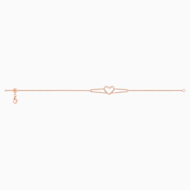 真爱之吻18K玫瑰金钻石手链 - Swarovski, 5436195