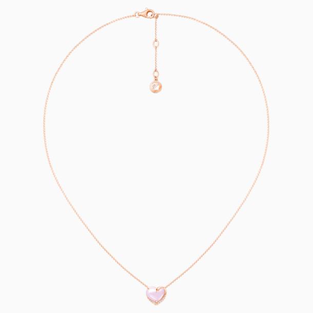 天鹅曼舞18K玫瑰金芙蓉石钻石项链 - Swarovski, 5436230