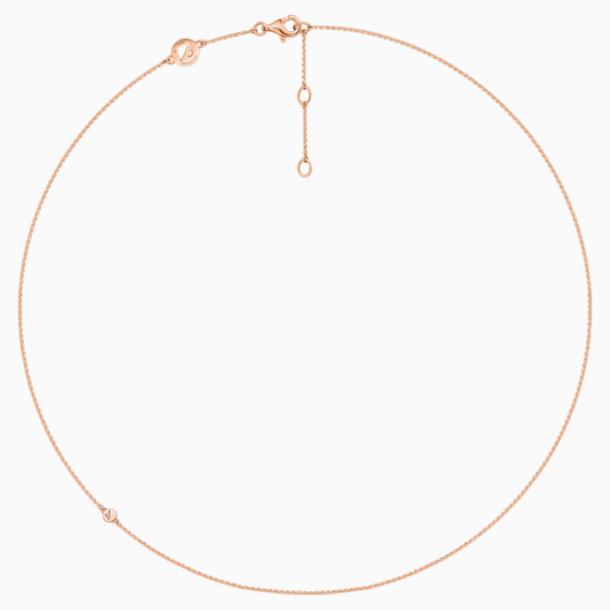 18K RG Deluxe Plain Chain - Swarovski, 5436254