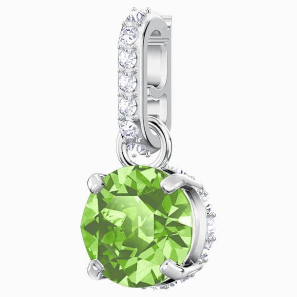 Swarovski Remix Collection Charm, August, Light Green, Rhodium plated - Swarovski, 5437317