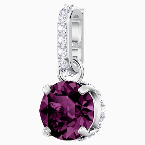 Swarovski Remix Collection Charm, February, Purple, Rhodium plated - Swarovski, 5437323