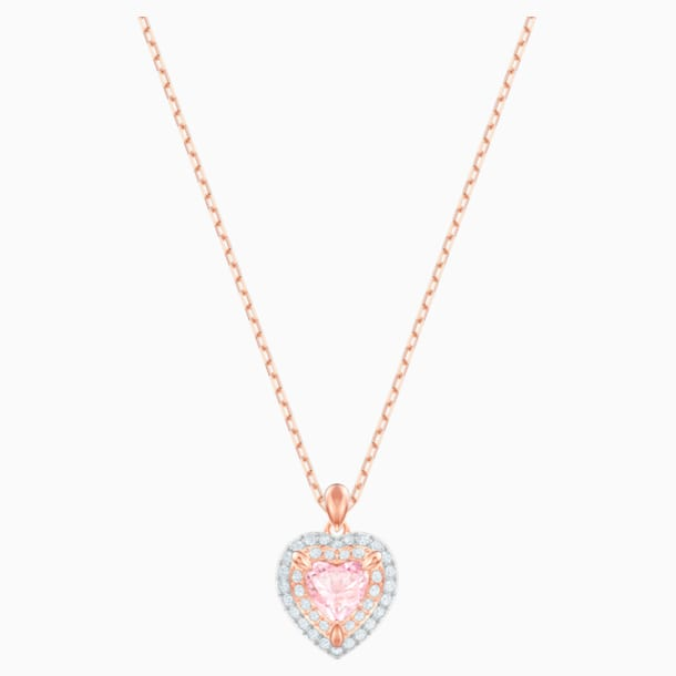 One Pendant, Multi-colored, Rose-gold tone plated - Swarovski, 5439314