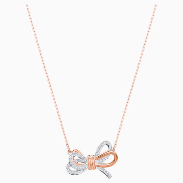 Wisiorek Lifelong Bow, biały, różnobarwne metale - Swarovski, 5440636
