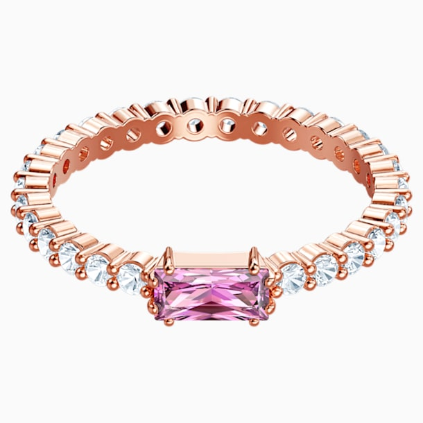 Vittore Ring, Multi-colored, Rose-gold tone plated - Swarovski, 5441201