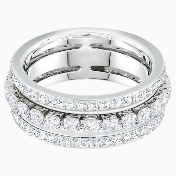 Further Ring, White, Rhodium plated - Swarovski, 5441203