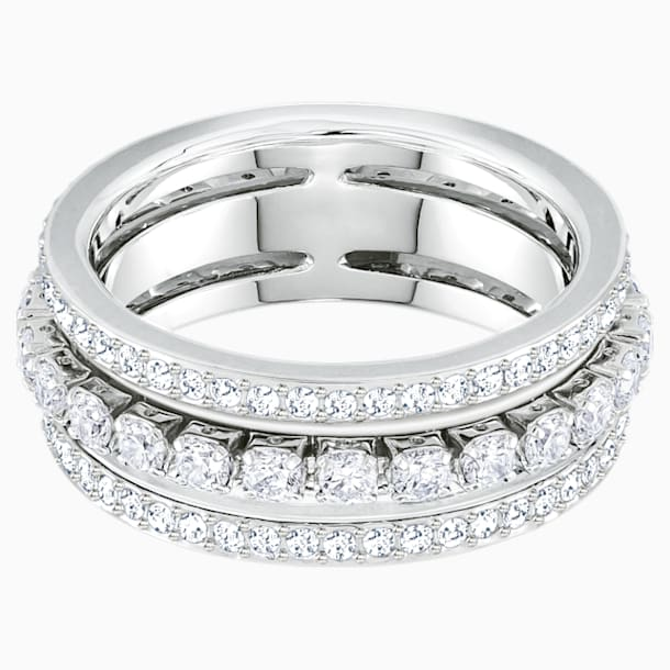 Further-ring, Wit, Rodium-verguld - Swarovski, 5441203