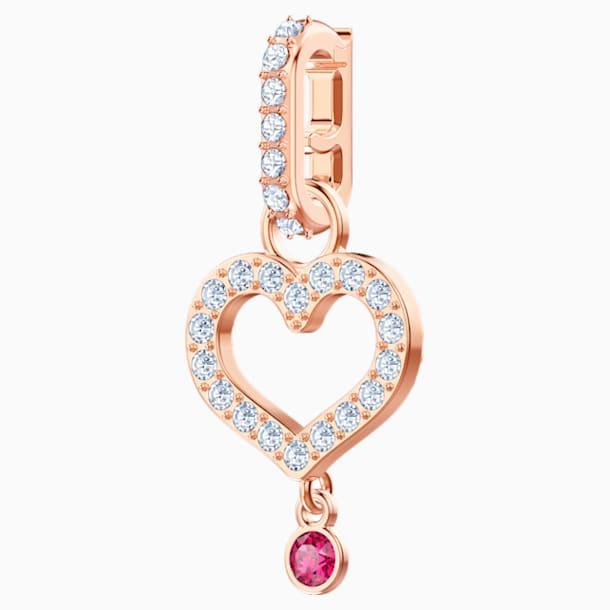 Swarovski Remix Collection Heart Charm, bianco, Placcato oro rosa - Swarovski, 5441398