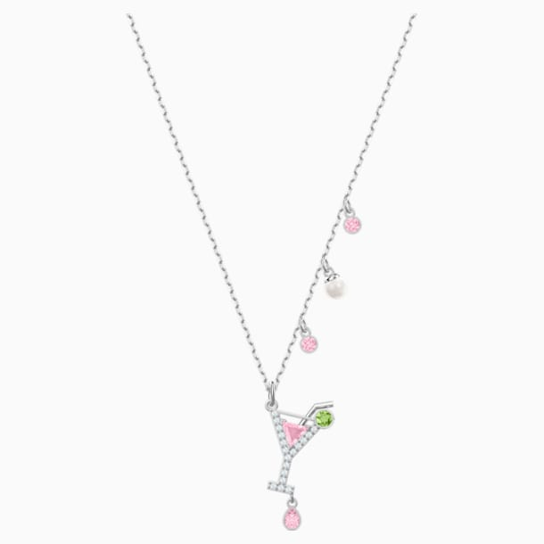 No Regrets Cocktail Pendant, Multi-coloured, Rhodium plating - Swarovski, 5443012