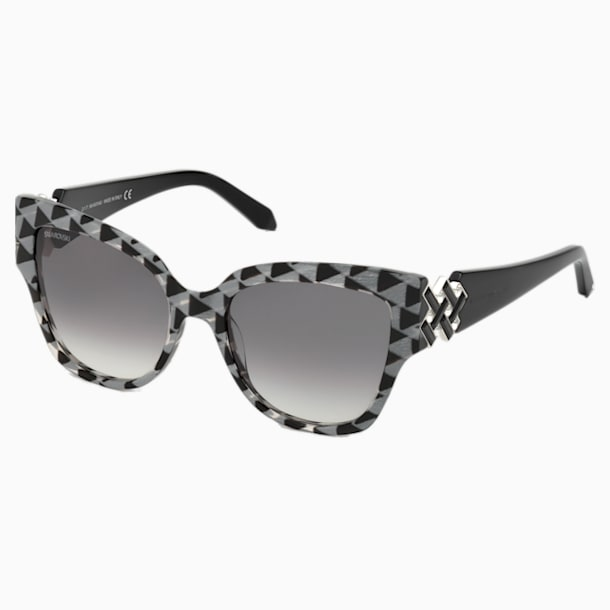 Nile Square Sunglasses, SK161-P 01B, Black - Swarovski, 5443921
