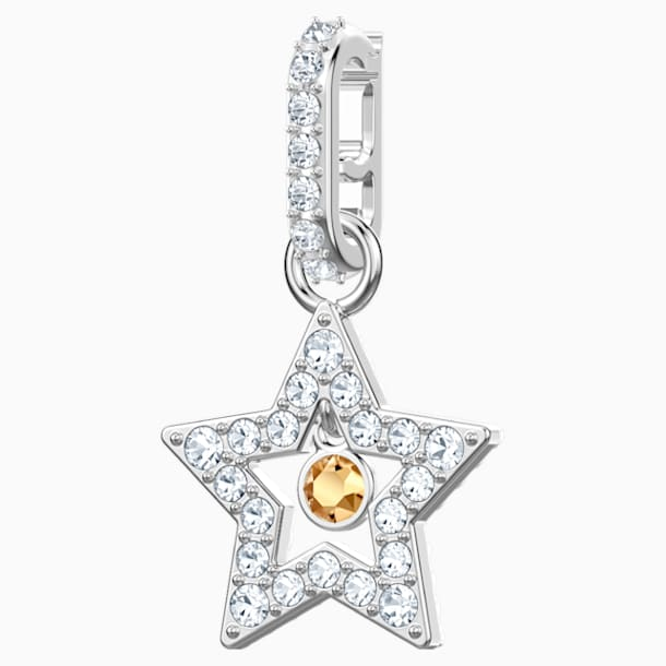Swarovski Remix Collection Star Charm, 화이트, 로듐 플래팅 - Swarovski, 5443939